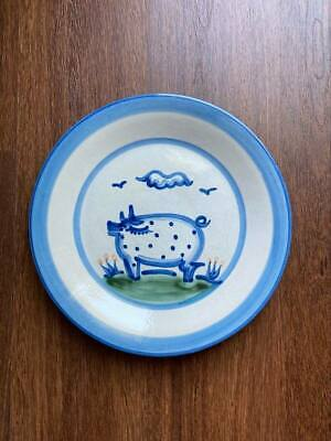 """$19 • Buy M A Hadley Pottery, 11"""" PIG DINNER PLATE"""