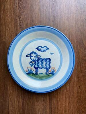 """$19 • Buy M A Hadley Pottery, 11"""" LAMB DINNER PLATE"""