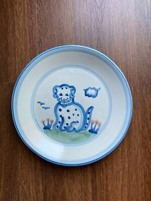"""$19 • Buy M A Hadley Pottery, 11"""" DOG DINNER PLATE"""