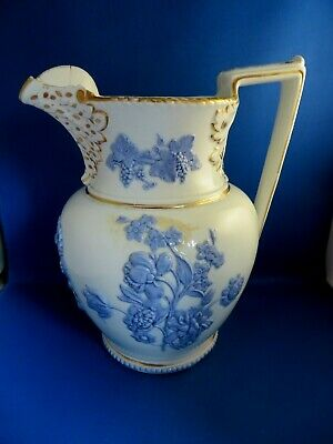 £10 • Buy Antique 19thc Hicks & Meigh Large Pearlware Lilac & White Ewer C1806-22