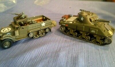 $50 • Buy New RAY - M4A3 Sherman Tank And New Ray Half Track - Die Cast Battery Operated