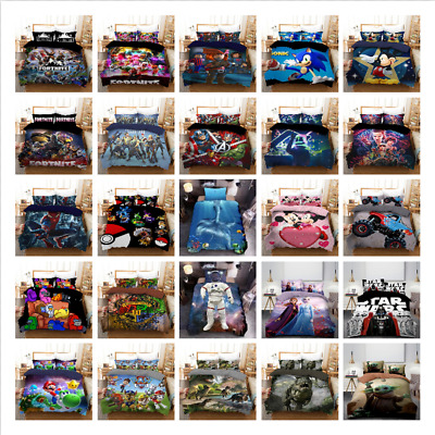 AU33.90 • Buy Single Double Queen King Size Quilt/Doona/Duvet Cover And Pillowcase Bedding Set