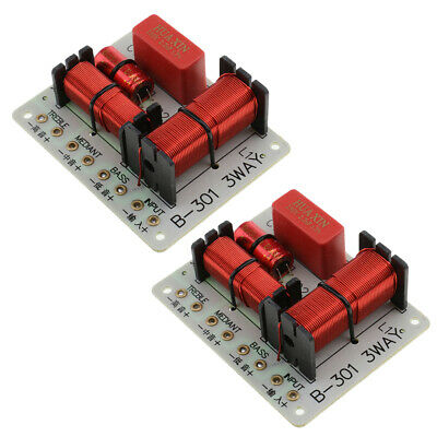 AU19.68 • Buy 2Pieces 3Way Frequency Divider Audio Crossover Filters Board B-301