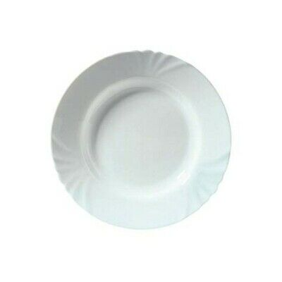 £5.95 • Buy Luminarc Cadix 22.5cm Opal Glass Deep Soup Food Round Plate Table Dining Server