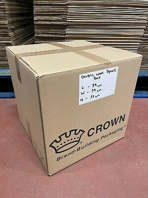 £14.99 • Buy 10 X Strong Double Wall Square Cardboard Boxes House Removal Moving Packing