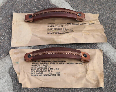 £28.32 • Buy Two WWII Original Leather Handles For BC-620 Military Radio & Willys Jeep - WW2