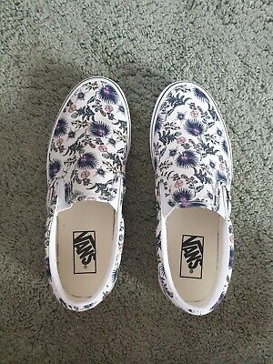£28 • Buy Vans Classic Paradise Floral White Womens Slip-on Trainers UK 6