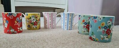 £22.50 • Buy 6 Cath Kidston Mugs - Used But In Great Condition