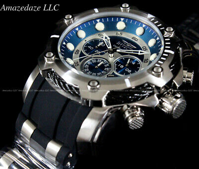 $104.99 • Buy NEW Invicta Men's 50mm Bolt Chronograph BLUE DIAL Stainless Steel 100M Watch !!