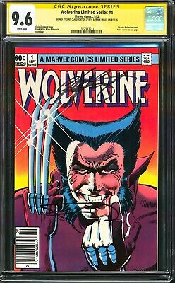 £256.70 • Buy Wolverine Limited Series #1 1982 Newsstand Cgc Ss 9.6 Nm+ Signed 2x Frank Miller