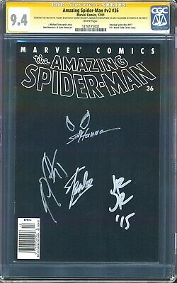 £249.67 • Buy STAN LEE SIGNED Amazing Spider-Man V2 #36 CGC 9.4 SS 4X NEWSSTAND/UPC VARIANT NM