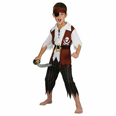 £14.99 • Buy Childrens Cutthroat Pirate Fancy Dress Up Party Halloween Ship Costume Outfit