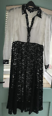 £14.99 • Buy Ladies French Connection Dress Size 10 Black And Sequined Dress