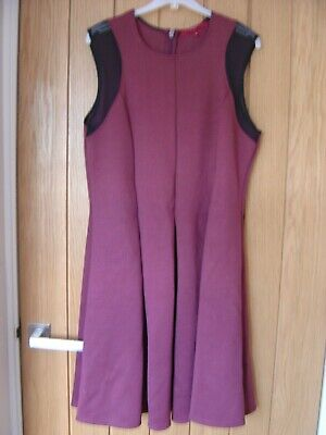 £1.99 • Buy CLEARANCE Next Burgundy Black Dress Size 14 (Ref H) Good Condition