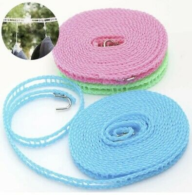 £1.99 • Buy 5M Non-slip Nylon Washing Clothesline Outdoor Travel Camping Clothes Line Rope