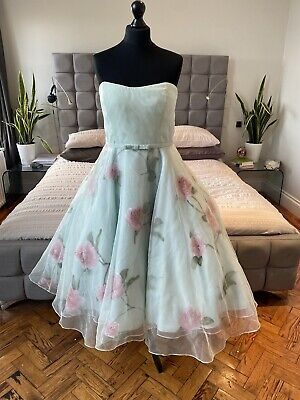 £120 • Buy Mint Pink 50's Style Full Circle Tulle Dress 12 14