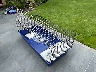 £25 • Buy Blue Guinea Pig And Rabbit Cage Indoor Home Large 120cm X 60 Good Condition