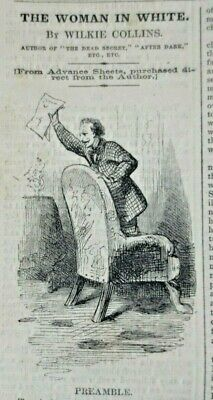 £20 • Buy 1859 Harper's Weekly Wilkie Collins Woman In White First Edition Charles Dickens