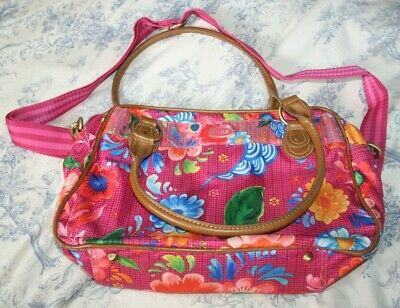 £9.95 • Buy Oilily Hand Bag Brightly Coloured Wipe Over Bag Loads Pockets Zips Stunning Bag