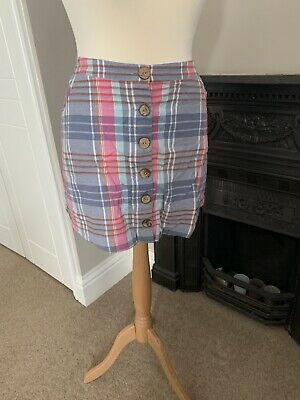 £1.10 • Buy Fat Face Checked Skirt 18