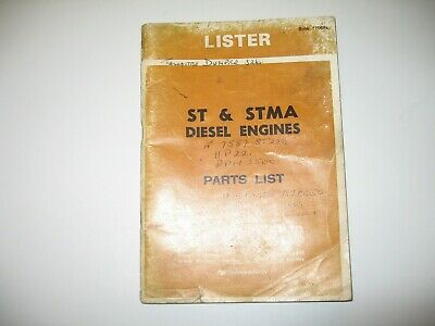 £6.50 • Buy 1976 Lister St & Stma Stationary Diesel Engine Parts Book Spares Manual List