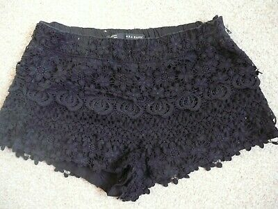 £2.99 • Buy Zara Lace Covered Shorts Size 28 Appprox A 10