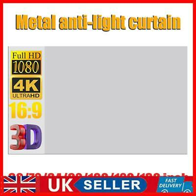 £24.77 • Buy 4K HD 60-130  Projection Screen Anti-Light Projector Screen Material Curtains UK