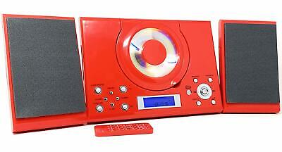 £29.95 • Buy CD Player With USB GTMC-101 Red Micro Stereo Hi Fi Aux In Clock Alarm & Radio