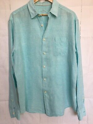 £12.99 • Buy M&S Collection Pure Linen Men's Mint Green Shirt Size Large 41- 43in Chest