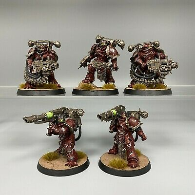 £54.95 • Buy Word Bearers Havocs Chaos Space Marines Painted Warhammer 40k Unit Squad