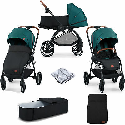 AU544.21 • Buy Kinderkraft Evolution Cocoon Green 2-in-1 Travel System Carrycot + Accessories