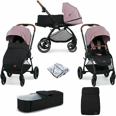 AU544.21 • Buy Kinderkraft Evolution Cocoon Pink 2-in-1 Travel System Carrycot + Accessories