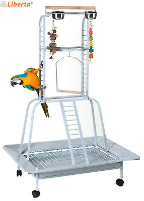 £134.99 • Buy Liberta Turret Stone Medium/large Parrot Cage Bird Play Stand Gym With Wheels