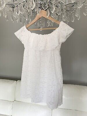 £25 • Buy Zara White Dress, Lace, Broderie Anglaise, Size M