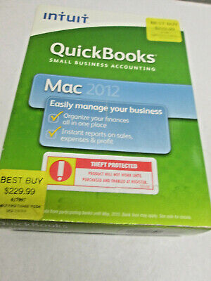 £35.39 • Buy Intuit QuickBooks Mac 2012 Small Business Accounting Bookkeep W/Product Key