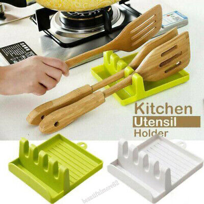 £3.14 • Buy Kitchen Heat Resistant Spoon Rest Cooking Utensil Spatula Holder Tool Home Decor