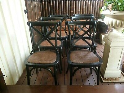 AU480 • Buy French Provincial Industrial Cross Back Chairs 6