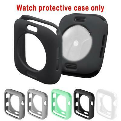 $ CDN1.40 • Buy  For Apple Watch Series 4 5 6 SE Silicone Bumper Case Cover Protector Shockproof