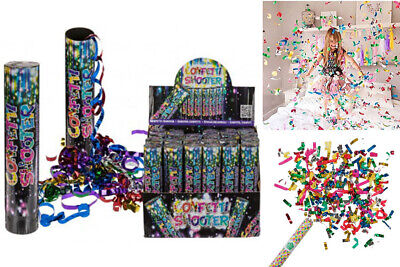 £6.89 • Buy New 20cm Confetti Cannons Poppers Shooter Compressed Air Wedding Birthday Party