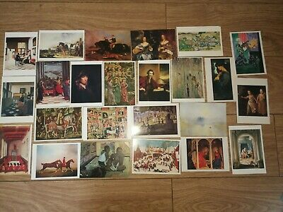 £4 • Buy Job Lot Bundle 25 Postcards New Unposted Art Painting Prints Religious Hunting