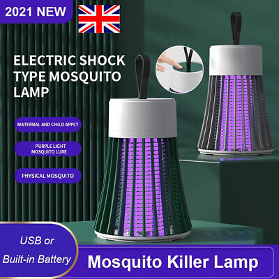 £8.89 • Buy Rechargeable Electric Fly Bug Zapper Mosquito Insect Killer LED Light Trap Lamp