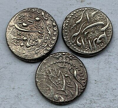 £63.72 • Buy ARABIC 3 SILVER OLD COINS - Set #5