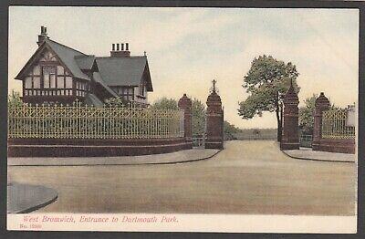 £4.99 • Buy Postcard West Bromwich Nr Walsall The Entrance To Dartmouth Park Early View