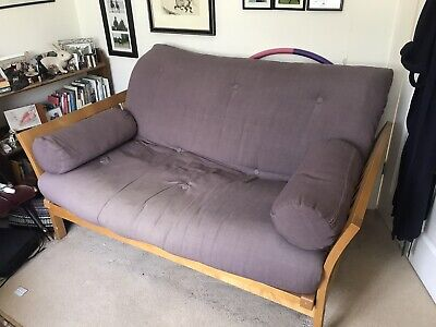 £225 • Buy Futon Company Flare Double Sofa Bed, In Purple. Drawer + 2 Bolster Cushions.