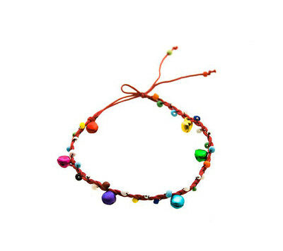 £8.87 • Buy Anklet Beads And Bells Thread Braided Red 4220