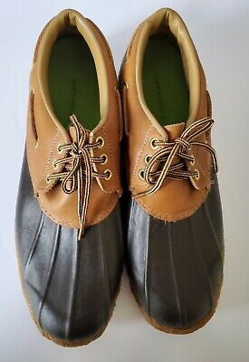 £51.18 • Buy CLARKS SIZE 11 Vintage DUCK SHOES  Muck Leather Rubber Men's Waterproof USA Rare