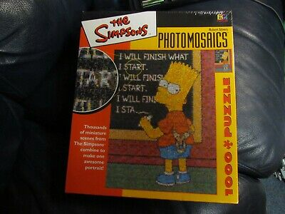 £26.91 • Buy The Simpsons Photomosaics 1000 Pc Homer Puzzle Robert Silvers New Sealed