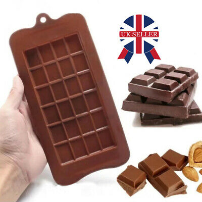 £2.98 • Buy 24 Cell Chocolate Bar Candy Mold Chocolatier Silicone Mould Snap Wax Melt DIY UK