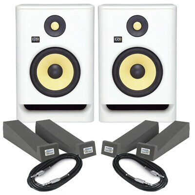 £353 • Buy KRK Rokit RP7 G4 White Noise (Pair) With Isolation Pads & Cables