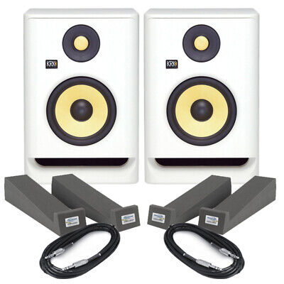£445 • Buy KRK Rokit RP8 G4 White Noise (Pair) With Isolation Pads & Cables